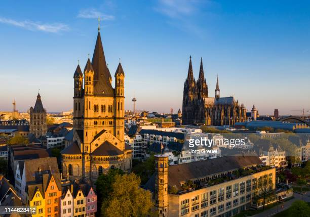 cologne at sunrise - north rhine westphalia stock pictures, royalty-free photos & images