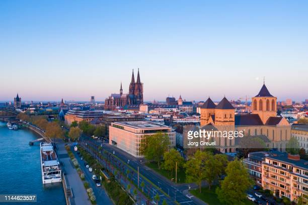 cologne at sunrise - cologne stock pictures, royalty-free photos & images
