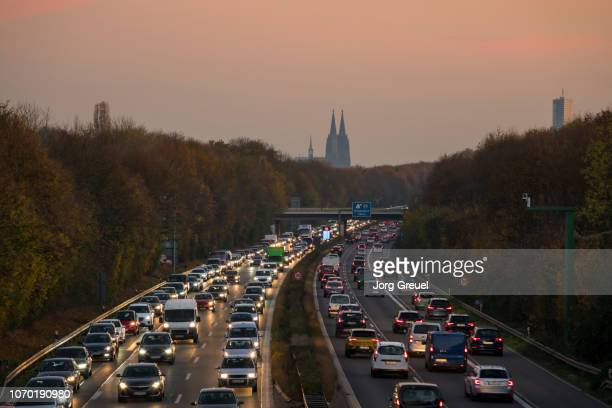 cologne autobahn - traffic jam stock pictures, royalty-free photos & images