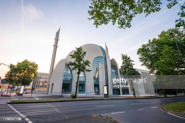 cologne central mosque - moschee stock-fotos und bilder