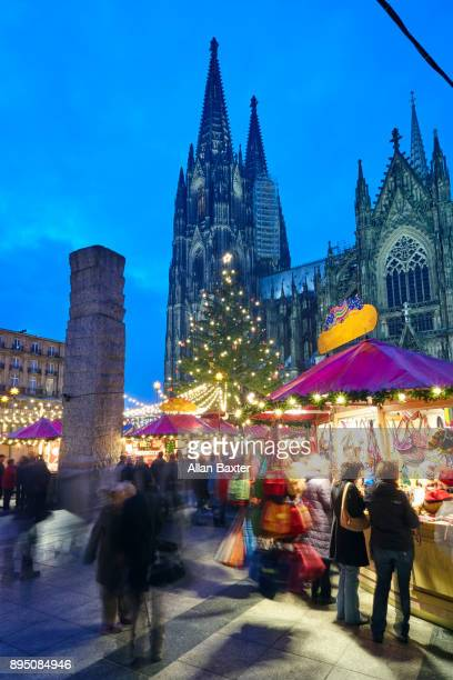 Cologne Christmas market in front of Cologne Cathedral