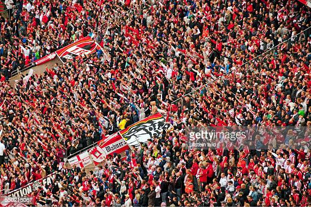 FC Cologne fans in the South Stand Rhein Energie Stadium in Cologne