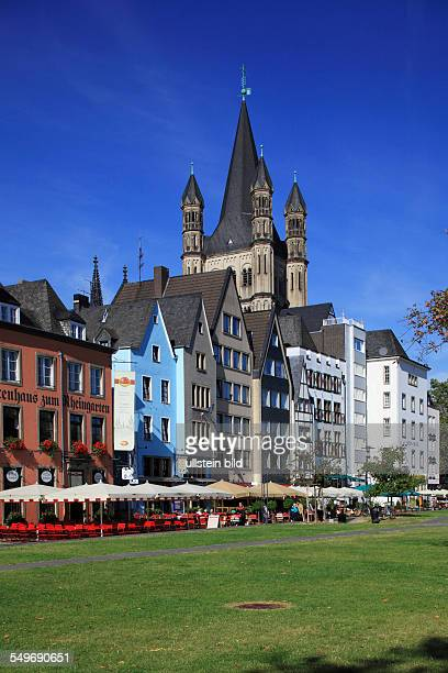 Cologne Martin quarter row of houses residential buildings Romanesque Great St Martin church