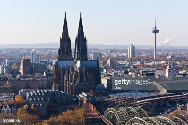 cologne panorama - north rhine westphalia stock pictures, royalty-free photos & images