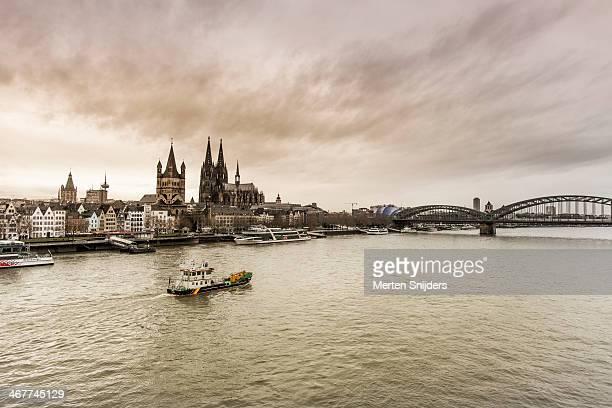 Cologne skyline at Rhein river