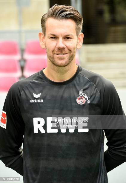 Cologne's goalkeeper Thomas Kessler poses for a picture during the team presentation of German first division Bundesliga football club 1 FC Cologne...