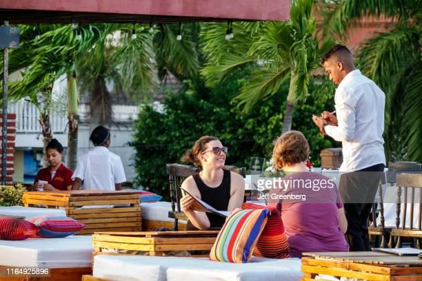Colombia Cartagena Casa de la Cerveza restaurant outdoor dining