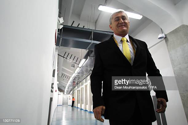Colombia Coach Eduardo Lara walks out of the change room prior to the FIFA U20 World Cup Round 16 match between Colombia and Costa Rica at The El...