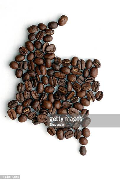 Colombia-Café mapa serie