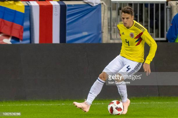Colombia defender Santiago Arias during the International Friendly Soccer match between Costa Rica and Colombia on October 16 2018 at Red Bull Arena...