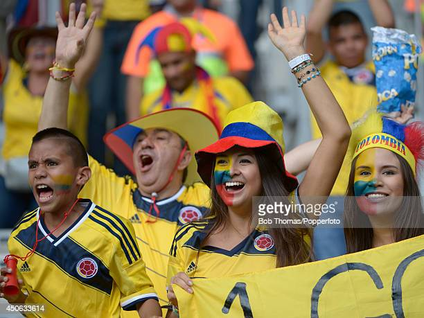 Colombia fans prior to the 2014 FIFA World Cup Brazil Group C match between Colombia and Greece at Estadio Mineirao on June 14 2014 in Belo Horizonte...