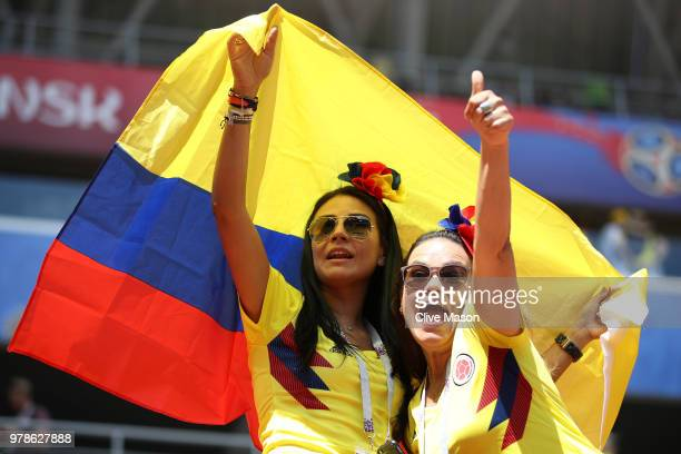 Colombia fans react during the 2018 FIFA World Cup Russia group H match between Colombia and Japan at Mordovia Arena on June 19 2018 in Saransk Russia