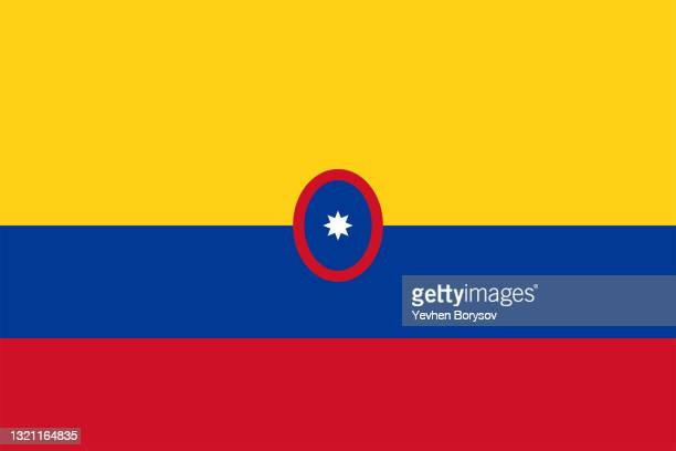colombia flag simple illustration for independence day or election - latin america stock pictures, royalty-free photos & images