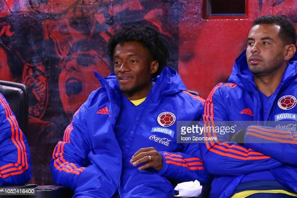 Colombia forward Juan Cuadrado during the International Friendly Soccer Game between Colombia and Costa Rica on October 16 2018 at Red Bull Arena in...