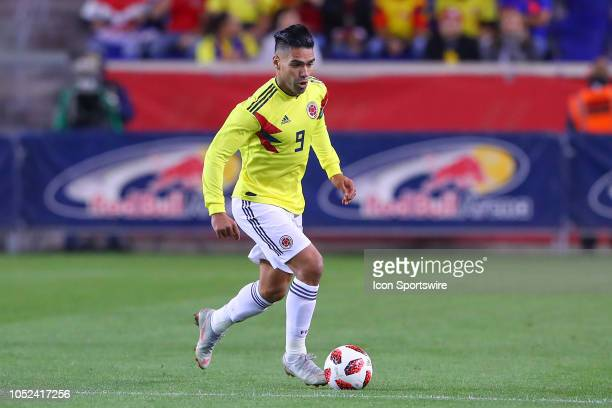 Colombia forward Radamel Falcao Garcia during the International Friendly Soccer Game between Colombia and Costa Rica on October 16 2018 at Red Bull...