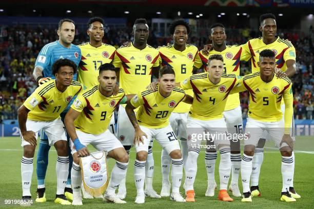 Colombia goalkeeper David Ospina Johan Mojica of Colombia Davinson Sanchez of Colombia Carlos Sanchez of Colombia Jefferson Lerma of Colombia Yerry...