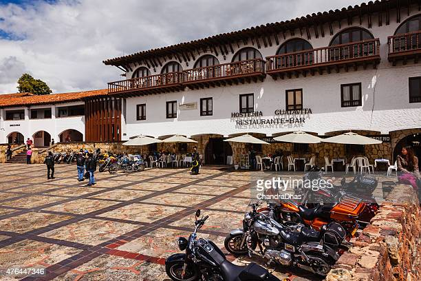 colombia harley owners group in plaza guatavita - cundinamarca stock pictures, royalty-free photos & images