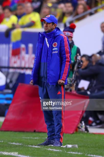 Colombia head coach Arturo Reyes during the International Friendly Soccer Game between Colombia and Costa Rica on October 16 2018 at Red Bull Arena...