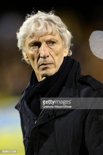 Colombia manager Jose Pekerman during the International Friendly match between Australia and Colombia at Craven Cottage on March 27 2018 in London...