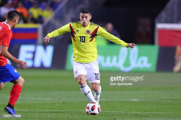 Colombia midfielder James Rodriguez during the International Friendly Soccer Game between Colombia and Costa Rica on October 16 2018 at Red Bull...