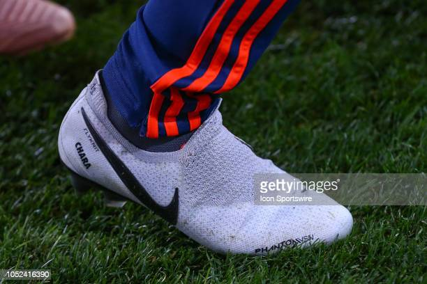 Colombia midfielder Yimmi Chara Nike Cleats during the International Friendly Soccer Game between Colombia and Costa Rica on October 16 2018 at Red...