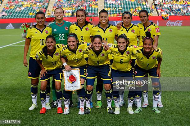 Colombia Poses For A Team Photo Before Taking On The United States In Fifa Women S