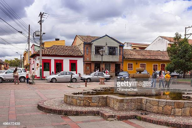 colombia, south america - town square in tabio - cundinamarca stock pictures, royalty-free photos & images
