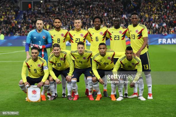 Colombia Team Group during the International Friendly match between France and Colombia at Stade de France on March 23 2018 in Paris France