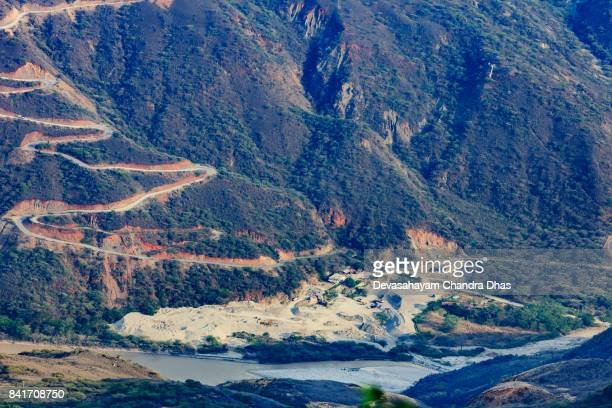 Colombia - The Chicamocha Canyon in the Santander Department - Building Material Excavation
