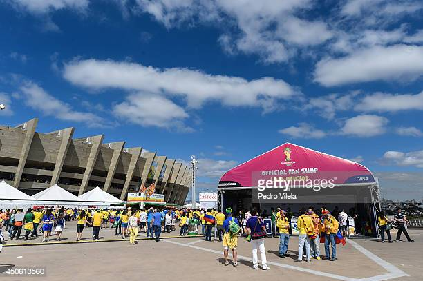 Colombia v Greece General Views of World Cup 2014 at Mineirao stadium on June 14 2014 in Belo Horizonte Brazil