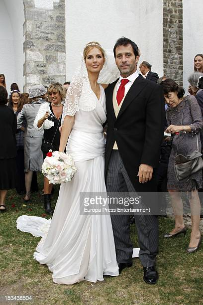 Colombian actor Juan Pablo Shuk and Ana De La Lastra get married on September 22 2012 in Biescas Spain