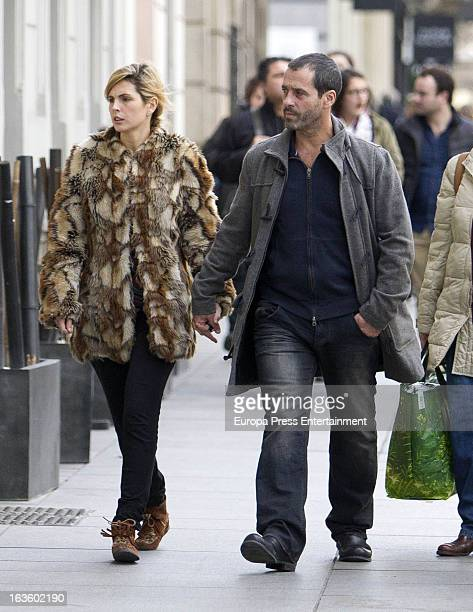 Colombian actor Juan Pablo Shuk and his wife Ana De La Lastra are seen on March 12 2013 in Madrid Spain