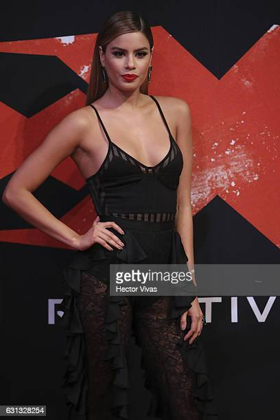 Colombian actress Ariadna Gutierrez poses during the xXx Return of Xander Cage premiere and red carpet at Auditorio Nacional on January 05 2017 in...
