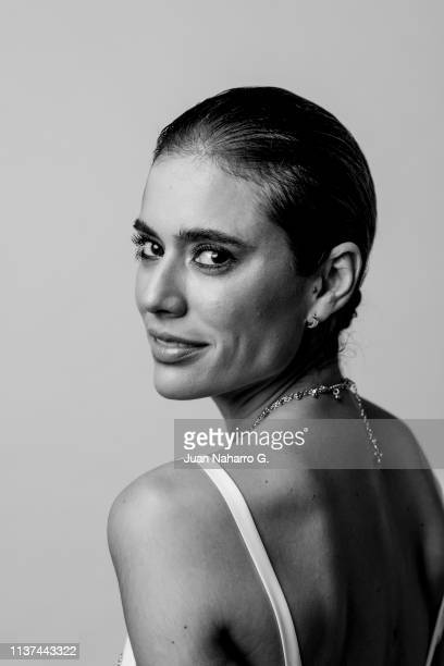 Colombian actress Carolina Ramirez poses for a portrait session at Teatro Cervantes during 22nd Spanish Film Festival of Malaga on March 21 2019 in...