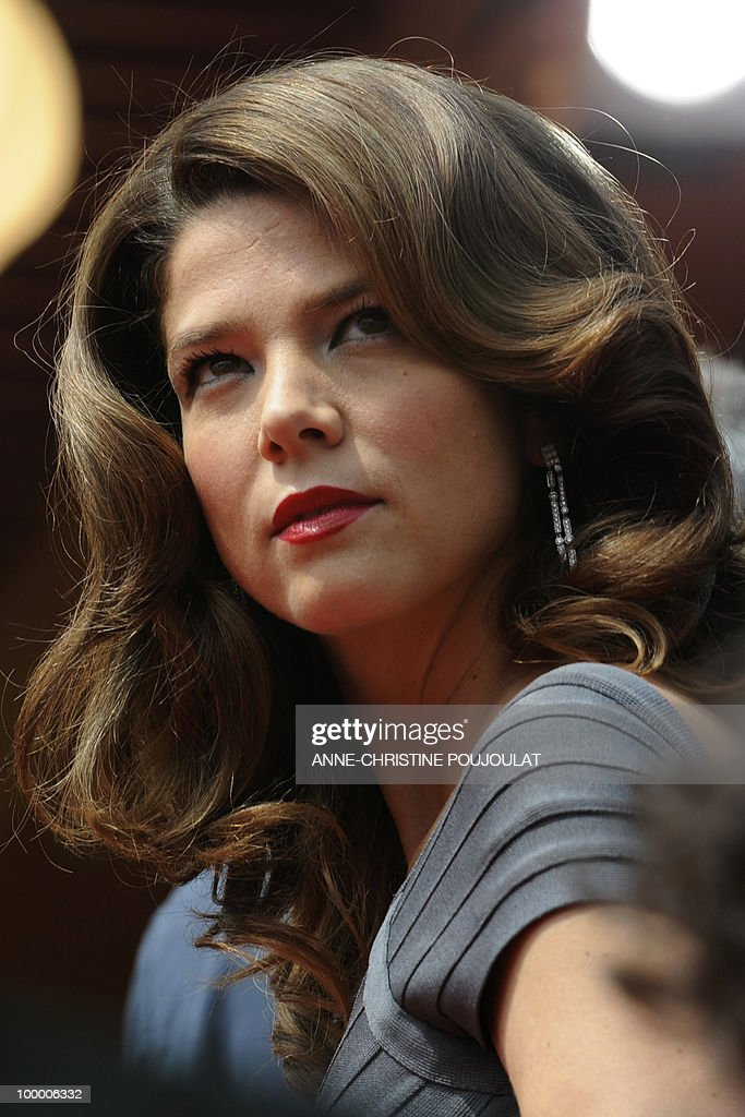Colombian actress Juana Acosta arrives for the screening of 'Carlos' presented out of competition at the 63rd Cannes Film Festival on May 19, 2010 in Cannes.