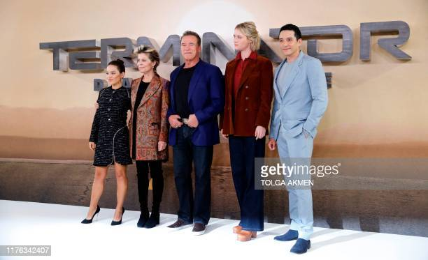 Colombian actress Natalia Reyes US actress Linda Hamilton AustrianUS actor Arnold Schwarzenegger Canadian actress Mackenzie Davis and US actor...
