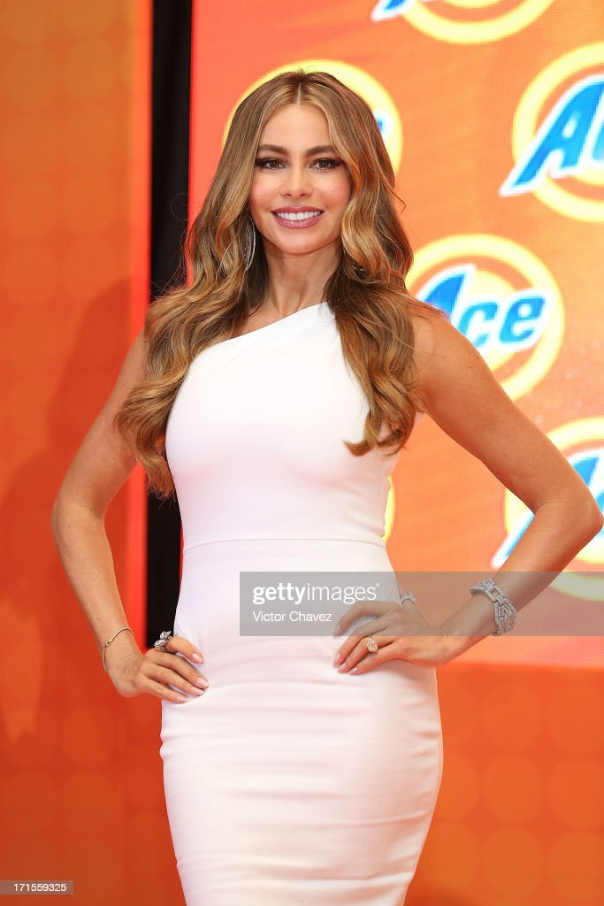 Colombian actress Sofia Vergara attends the Ace campaign press conference at Four Seasons Hotel on June 26, 2013 in Mexico City, Mexico.