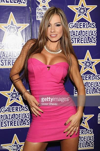 Colombian adult film actress Esperanza Gómez signs copies of Playboy Mexico magazine september 2014 cover model at Galerias Plaza de las Estrellas on...