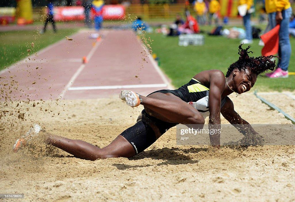 Colombian athlete Catherine Ibargüen mak : Nachrichtenfoto