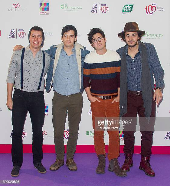 Colombian band Morat attends 'La Noche de Cadena 100' photocall at Barclaycard center on April 9 2016 in Madrid Spain
