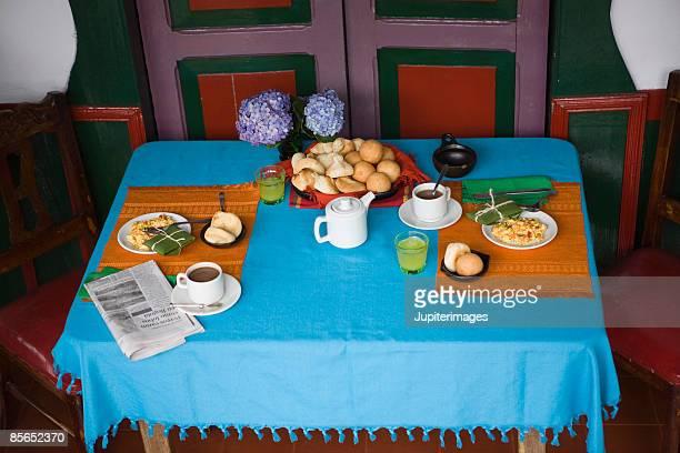 Colombian breakfast table