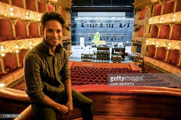 Colombian dancer Fernando Rodriguez Montano speaks during an interview with AFP at the Colon Theater in Bogota on January 24 2019 Fernando Montano...