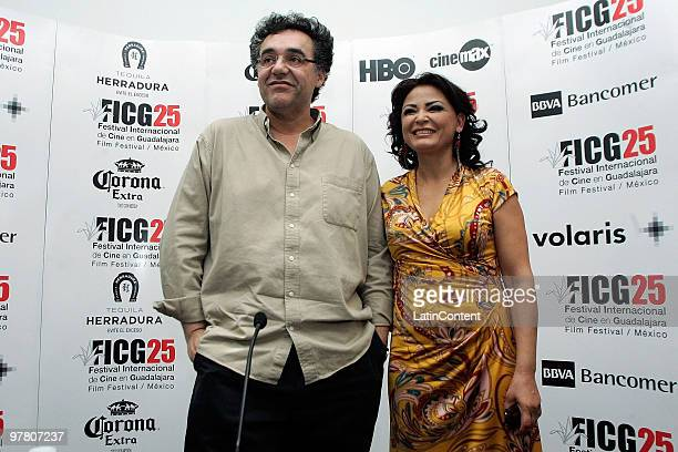 Colombian Director Rodrigo Garcia and Mexican actress Elpidia Carrillo during the press conference of the movie Mother and Child at Fiesta Americana...