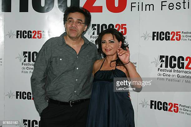 Colombian director Rodrigo Garcia and Mexican actress Elpidia Carrillo during the delivery of the Premio Guadalajara Iberoamericano as part of the...