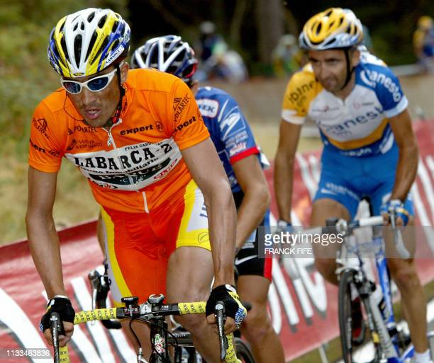 Colombian Felix Cardenas rides during the 19th stage of the 58th Tour of Spain cycling race between La Vega de Alcobendas and Collado Villalba 26...
