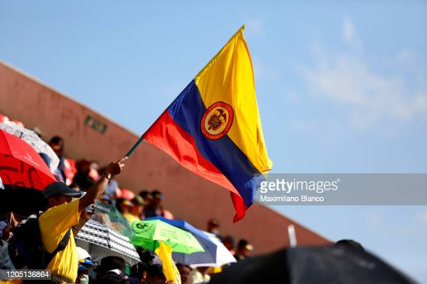 Colombian Flag / Detail view / during the 3rd Tour of Colombia 2020 Team Presentation on La Independencia Stadium Tunja / @TourColombiaUCI /...