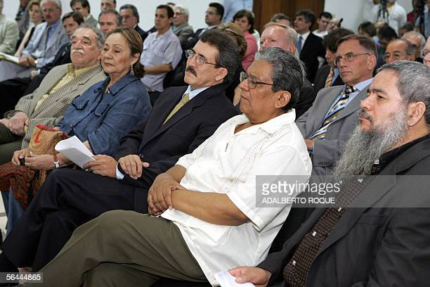 Colombian guerrilla National Liberation Army military chief Antonio Garcia the group's leader Francisco Galan the member of the rebel group's Central...