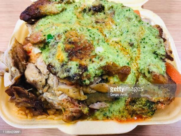 Colombian marinated chicken with green sauce