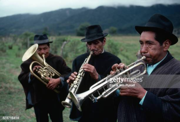 Colombian Men Playing Horns
