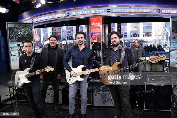 AMERICA Colombian musician Juanes performs on GOOD MORNING AMERICA 2/16/15 airing on the ABC Television Network